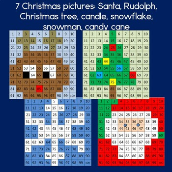 Christmas Hundreds Chart Mystery Pictures