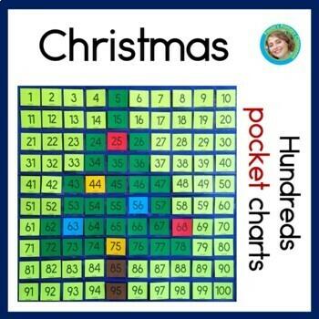 Christmas Hundreds Pocket Charts