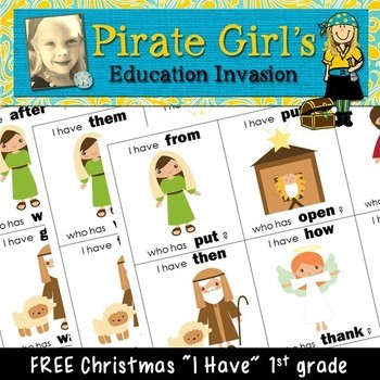 """Christmas """"I Have"""" Game (dolch 1st grade)"""