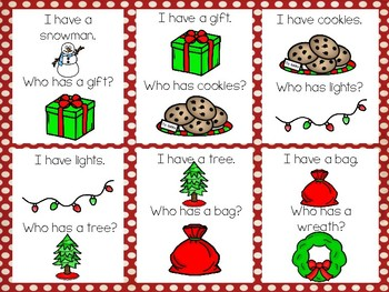 Christmas I Have Who Has