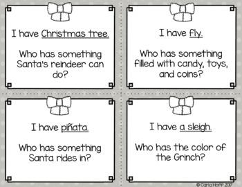Christmas I Have... Who Has?