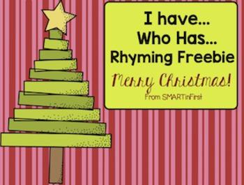 Christmas I Have, Who Has Rhyming Freebie