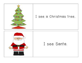 Christmas - I See - Pocket Chart Printable