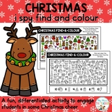 Christmas I Spy Find-and-Colour