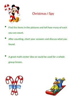 Christmas I Spy Math