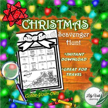 Christmas I-Spy Scavenger Hunt from LilyVale Learning