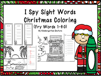 Christmas I See Tiny Sight Words -Coloring Edition (Fry Wo
