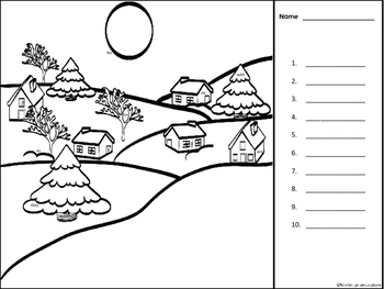 Christmas I See Tiny Sight Words -Coloring Edition (Fry Words 1-40)