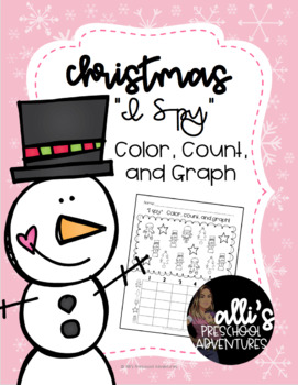 "Christmas ""I Spy"" color, count, and graph"