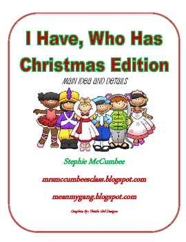 Christmas- I have, Who Has Main Idea and Details