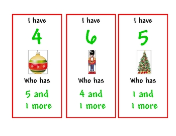 Christmas I have... Who has... Game