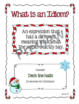 Christmas Idioms