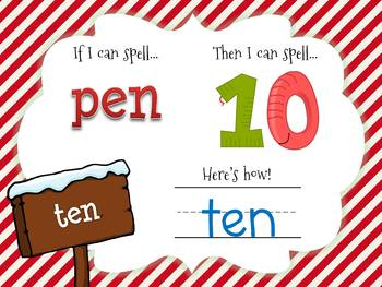 Christmas If I Can Spell CVC Words Game for Smartboard/Promethean Board!