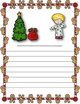 Christmas Image Writing Prompt - No Prep!