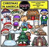 Christmas In America Clip Art Bundle {Educlips Clipart}