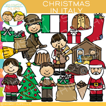 Christmas In Italy Clip Art {Christmas Around the World Clip Art}
