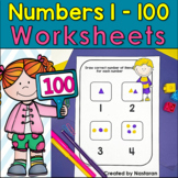 Reading Writing Tracing Numbers To 100 : Numbers 1-100 Worksheets