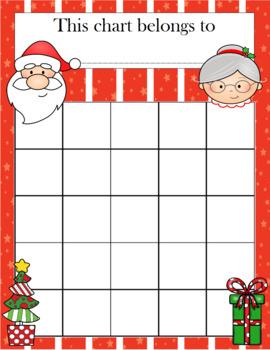 Christmas Incentive Chart