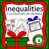 Christmas Inequalities - Match Verbal Description with Inequality-TEKS 6.9A
