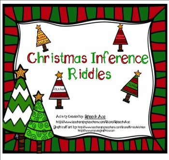 Christmas Inference Riddles Freebie