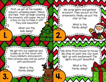 Christmas Inference Task Cards