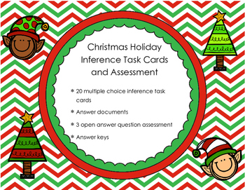 Christmas Inference Task Cards and Assessment