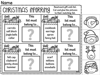 Christmas Inferring Interactive Powerpoint Activity