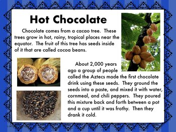 Winter:  Informational Reading about Hot Chocolate with Science Experiment