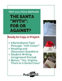 High School Christmas Reading Comprehension Passages and questions, plus writing