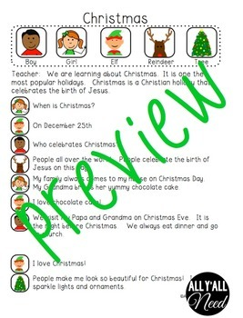 Christmas Informative Reader's Theater