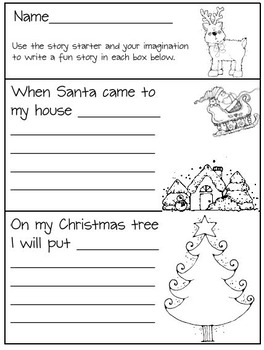 Christmas Kindergarten Literacy and Math Activities