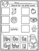 Christmas Initial Sound Cut and Paste Worksheets:  Activit