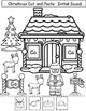 Christmas Initial Sound Worksheets: Cut and Paste Activiti