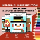 Christmas: Integrals U-substitution Pixel Art Mystery Pictures