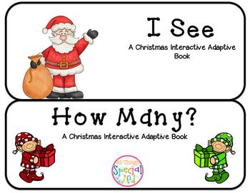 "Christmas Interactive Adaptive books set of 2 (""I See and"