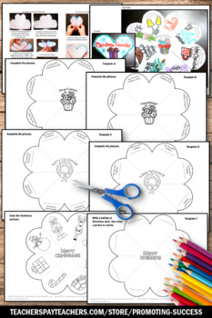 Foldable Christmas Craft Interactive Notebook Activity