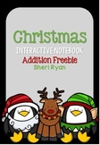 Christmas Interactive Notebook Addition Freebie
