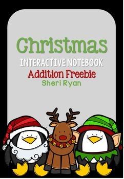 Christmas Interactive Notebook Addition Freebie