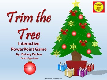 Christmas Interactive PowerPoint Game: Trim the Tree