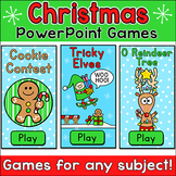 Christmas Activities Review Games - Gingerbread Man, Elf and Reindeer Games