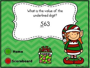 Christmas Interactive Powerpoint Math Game- Second Grade Edition