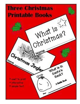 Christmas Interactive Printable Books