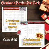 Christmas Interactive & Printable Word Search & Crossword