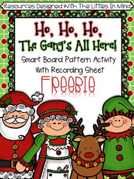 Christmas Interactive Smart Board Game With Recording Sheet FREEBIE