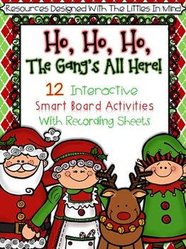 Christmas Smart Board Math & Literacy Activities With Reco