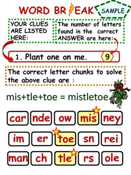 Christmas Interactive Word Game Fun!