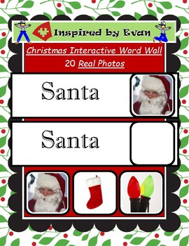 Christmas Interactive Word Wall for Autism