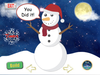 Christmas: Interactive snowman Challenge