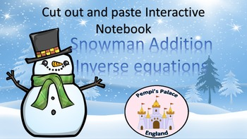 Christmas Inverse Addition Families Interactive Notebook