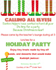 Christmas Party Invitation, Editable